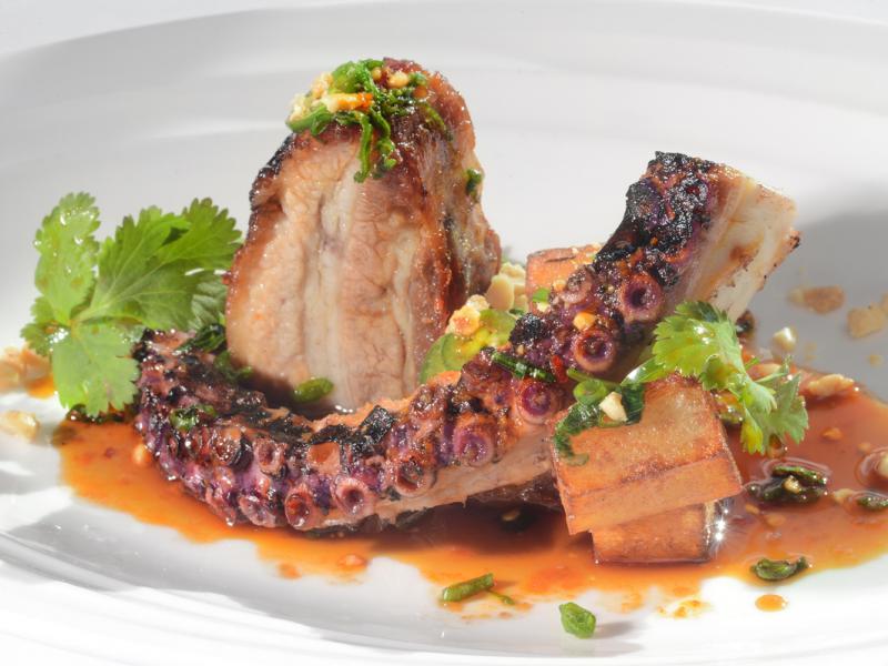 Grilled Octopus & Pork Belly